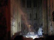 巴黎圣母院火灾后教堂内部首张图片曝光