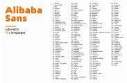 """阿里巴巴发布""""普惠字体"""":免费商用,涵盖173个语种"""