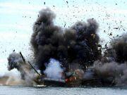 地点南海!印尼重拳出击,51艘船只顷刻灰飞烟灭,多数来自这国