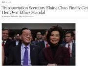 """美媒深扒美国交通部长赵小兰 暗指其""""私通中国"""""""