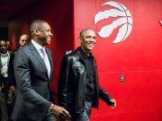 奥巴马现身NBA总决赛 现场观战勇士VS猛龙