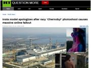 """俄模特在切尔诺贝利核电站拍""""不雅照"""" 网友怒了"""