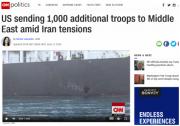 美国五角大楼批准向中东增派1000名士兵