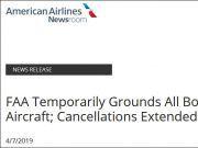 全球最大航企美国航空:延长波音737MAX停飞期至6月