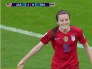 美国女足横扫泰国女足比分最终定格在13-0
