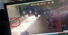 幼儿园玻璃窗掉落砸中6岁女童 全身5处伤口缝23针