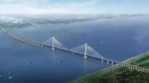 世界最大跨度公铁两用斜拉桥主塔在中国顺利封顶