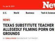 美国女老师在教室拍小黄片:警察说无罪 学校开除