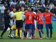 美洲杯阿根廷对阵智利 梅西被红牌罚下
