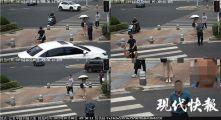 """南京行人闯红灯开罚了!监控不仅""""认识""""你,还会给你发短信"""