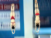 """跳水混双10米台""""解锁""""游泳世锦赛中国队首金"""