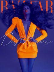 舒淇荧光橙造型大胆前卫 蓝紫色皮肤还有一些邪魅