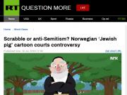 """反犹?挪威国家电视台播卡通片现""""犹太猪""""惹争议"""
