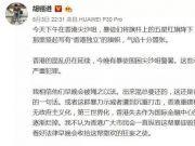 胡锡进:等待香港社会自己动手惩罚这帮混账