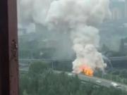 成都成渝立交附近爆炸?系汽车自燃,无人员伤亡