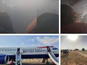 英客机备降冒浓烟 有乘客称此场景就像恐怖电影