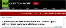 法国动物权利活动人士:人类为蚊子献血