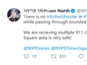 时代广场万人奔逃 枪击事件接二连三先美国管好本国人民的安全吧
