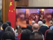中外记者会现场播放了这样一段香港视频