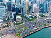 觉醒!香港47.6万人冒雨集会 有请暴民看清:这才是主流民意