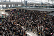 香港机场取消今日余下所有航班