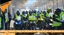"""""""黄背心""""抗议者第45轮游行活动巴黎出动7000警察"""