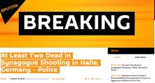 德国哈雷市发生枪击事件 至少2人死亡