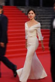 42岁何琳罕见晒照 一袭白裙惊艳红毯