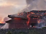 日本冲绳首里城凌晨突发大火 几乎全部损毁(图)