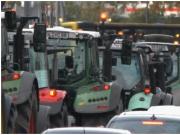 抗议新环境法规 德国农民把约4000辆拖拉机开上街