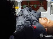韩最大在野党党首绝食抗议8天后失去意识被送医