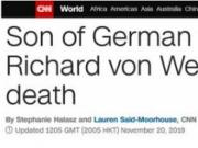 德国前总统之子遇刺身亡,默克尔表示哀悼