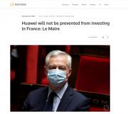 英国宣布禁用华为后 法国表态