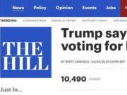 特朗普否认大选将因疫情推迟:美国将于11月3日举行大选