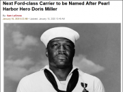 打破传统 美国航母将首次以黑人名字命名