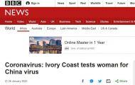 科特迪瓦发现疑似新型肺炎病例 或系非洲国家首例