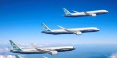 世界最大双发客机 波音777X成功首飞