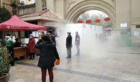 重庆一小区建起5米消毒长廊,3千多户无感染!灵感来源养猪场