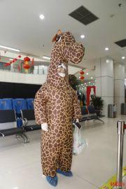 """惊呆了!女子穿""""长颈鹿""""服进医院问诊"""