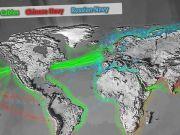 美展示中俄海军活动地图,俄在美门口行动密集,对中国有新评价