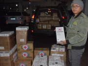 蒙古国向呼伦贝尔捐赠1500个口罩、100瓶洗手液