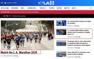 洛杉矶马拉松如期开跑,2.7万人参加