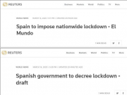 西班牙将封锁全国,所有西班牙人必须呆在家里