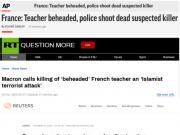 """法国巴黎一老师被""""斩首"""",马克龙:这是""""伊斯兰恐怖袭击"""""""