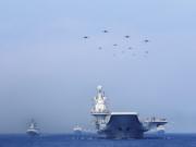 辽宁舰航母编队在台湾周边海域训练