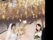 女儿结婚父亲埋头吃饭掩饰流泪