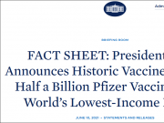 """美国又""""画饼"""":将捐5亿剂疫苗 外交部回应"""