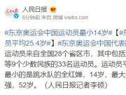 东京奥运会中国运动员最小14岁,平均年龄25.4岁