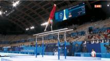 刘洋、邹敬园完美表现加冕 身着闪亮体操服惊艳奥运赛场