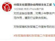 中网工委评张哲瀚不应止于禁言